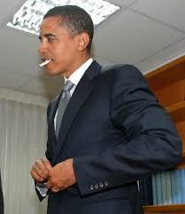President Obama Smoked