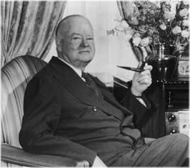 President Hoover smoked