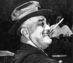 President Roosevelt smoked