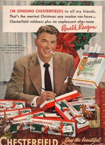 President Reagan Smoked